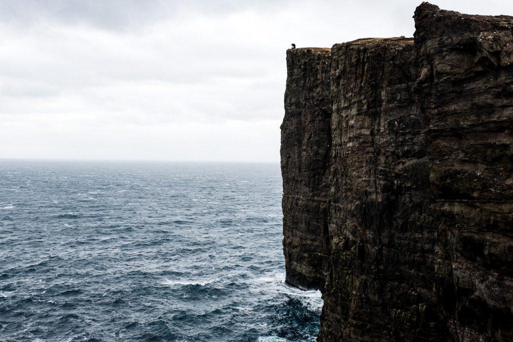 The slave cliff in Miðvágur